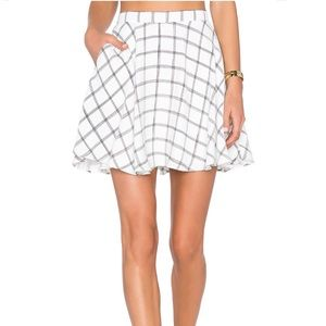 NBD Perfect Day Skirt in Black and White Grid